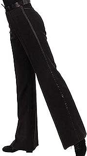Men's Modern Latin Jazz Salsa Tango Competition Practice Dance Costume Long Pants Trousers (Medium) Black