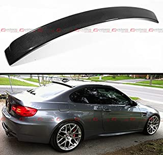 Cuztom Tuning AC Style Real Carbon Fiber Rear Window Roof Spoiler Wing Fits for 2007-2012 BMW E92 & E92 M3 2 Door Coupe