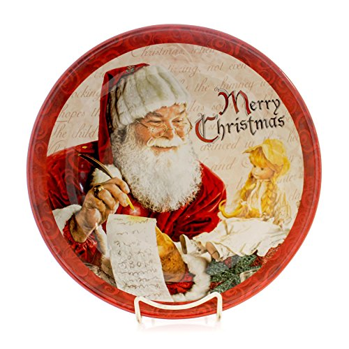 "Christmas Holiday Large Ceramic Serving Bowl""Santa's List"""