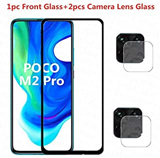 واقيات شاشة الهاتف - زجاج مقوى 4 في 1 لجهاز Xiaomi Poco M2 Pro Poco F2 Pro واقي شاشة لـ Pocophone M2 F2 Pro غشاء زجاج عدسا...