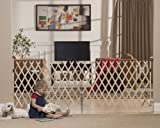 GMI Keepsafe 84' Wood Expansion Gate-Made in USA! Collapses to 20.5' Smallest in Industry. Top of Stairs Certified! Open Concept!