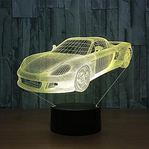 LPY-Creative 3D Glow 7 Couleurs Illusion Optique LED Night Lights avec Unique Effet D'éclairage Spécial Visualisation Home Decor (Voiture)
