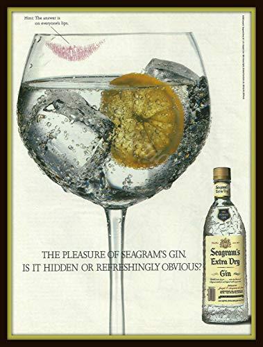 Póster Raro de Burning Desire, de Seagram's Extra Dry Gin Poster de 30,5 x 45,7 cm Enrollado