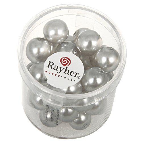 Rayher Hobby 14443561 – La Renaissance Verre Perles de Cire, 10 mm, boîte 35 pièces,