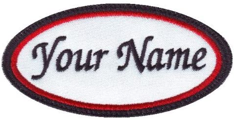 Monogrammed Personalised name tag jagged edge cut Name tag embroidered name patch Custom Name patch 8x4 Large Felt Name patch