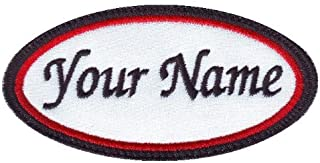 Oval Custom Embroidered Name Tag Sew On Patch (A)