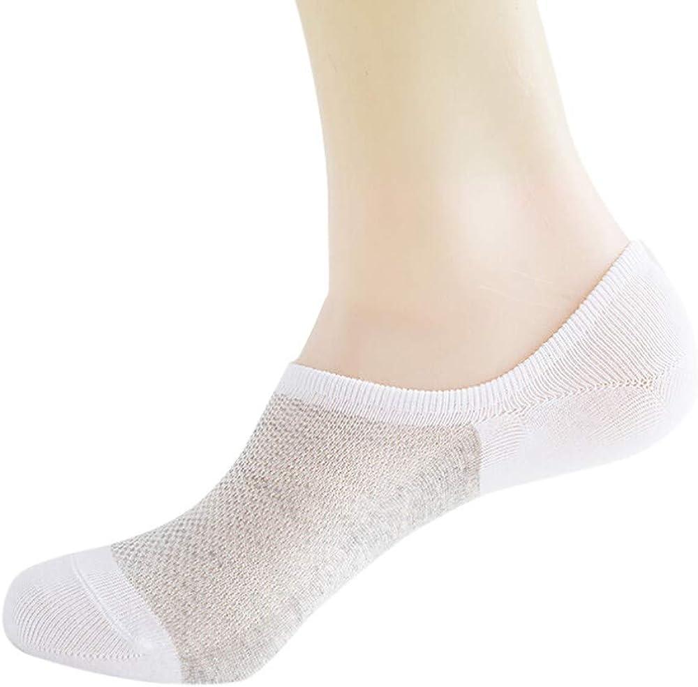 Yemenger Invisiable Sock Slippers Comfort Scoop Cut No Show Sport Liner White
