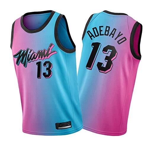 CLKI 2021 New Season #13 Miami Heat Adebayo - Camiseta de baloncesto para hombre, malla transpirable, XXL