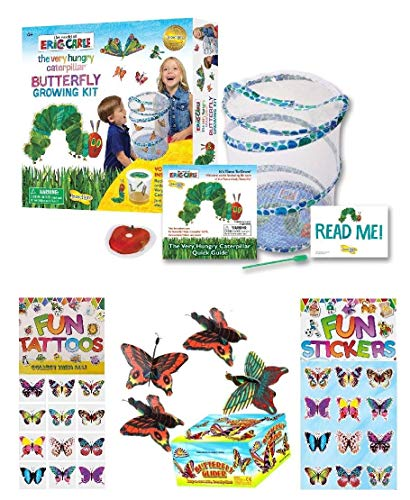 ToyGalaxy Hungry Caterpillar Butterfly Garden, Tattoos, Stickers & Glider Bundle (C)