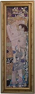 イタリア製 JHAアンティークフレーム 世界の名画 クリムト 母と子&ゴールドフレーム (S)W250×H680 IE-122 額絵 絵画 アートポスター 出産祝 木製フレーム