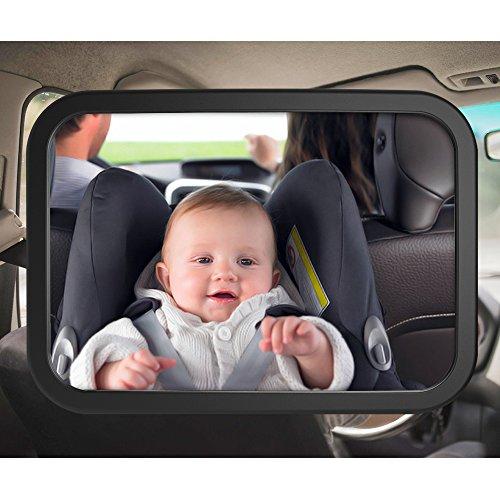 SUNLUXY auto specchio Effetto Baby sedile posteriore specchio con 2varianti di fissaggio per bambino girevole