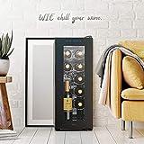 WIE Weinkühlschrank 32 Liter 12 Flaschen Freistehend 10-18 °C Touch digital Temperatureinstellung LED-Innenraumbeleuchtung - 3