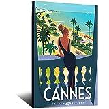 ASFGH Cannes Fenetre Vintage-Reise-Poster, Dekor, Malerei,