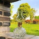 Lámparas de aceite soplando lámpara de queroseno Retro Cristal de cristal Linterna nostálgica...