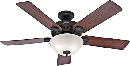 Hunter Indoor Ceiling Fan with light and pull chain control - Pro's Best 52 inch, New Bronze, 53250
