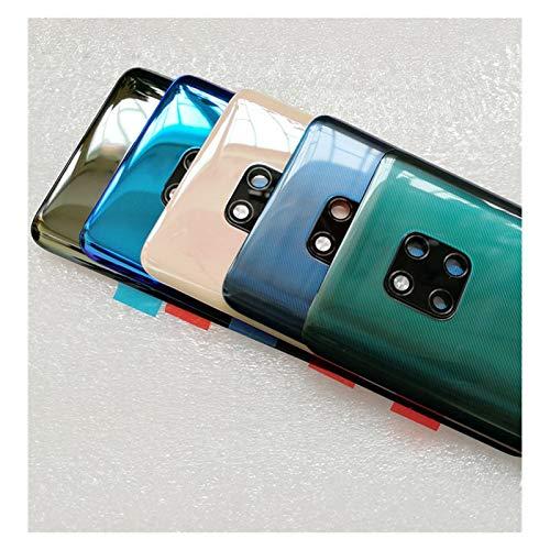 RKRLJX Carcasa de telefono Teléfono Trasera Cubierta Cristal Fit For Huawei Mate20 Mate 20 Lente De La Cámara Pro Batería Cubierta De La Cubierta con (Color : Mate 20 Pro Pink)