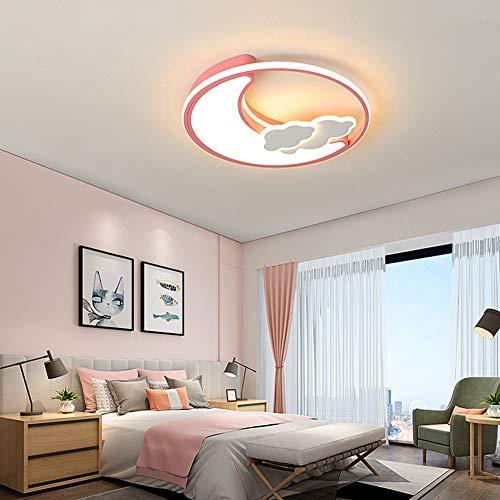 URAURORA Led-plafondlamp, modern, energiebesparend, maan, design flushmount keiling licht voor slaapkamer, huis, decoratie kinderkamer