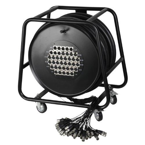 Adam Hall K 40 C 50 D 32/8er Multicore-Kabel mit Stagebox (Kabeltrommel, 50m)