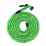 Tacklife FlexiSchlauch - flexibler Gartenschlauch Ausgedehnt Schlauch bis zum 15m flexibel dehnbar, Grün