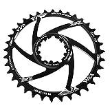 LQKYWNA Anillo de cadena de aleación de aluminio de 3 mm, E32T 34T 36T, anillo de dientes estrechos y anchos para bicicletas de montaña de carretera