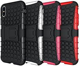 iPhone X caso, hlct resistente a prueba de golpes doble capa funda con soporte integrado