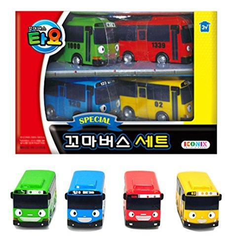 Tayo Little Bus Special Mini 4 Pcs Toy Set Rogi + Gani + Rani by ICONIX