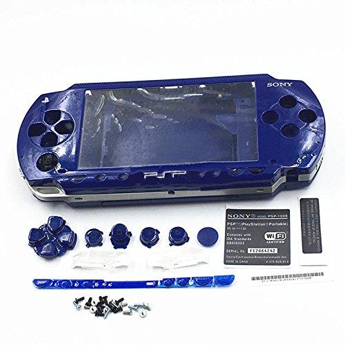Carcasa carcasa carcasa cubierta con destornilladores para Sony PSP 1000 1001 (azul)