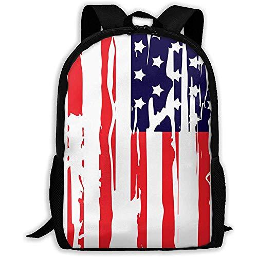 Casual Schultasche America Flag Independent Day Rucksack Frauen 3D Print Daypacks für Männer