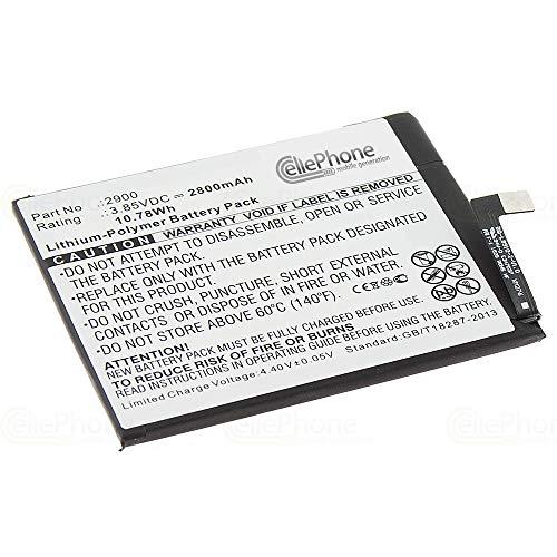 cellePhone Akku Li-Polymer kompatibel mit BQ Aquaris X5 (Ersatz für 2900)