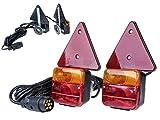 12V Anhänger Rückleuchten Set mit Magneten und Rückstrahler komplett Anbaufertig von The Drive