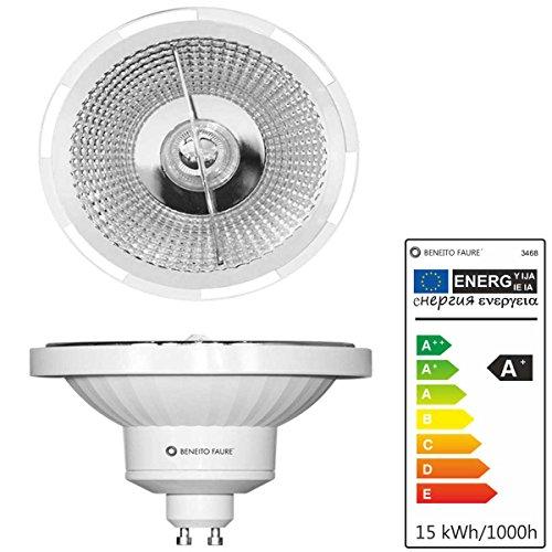 Preisvergleich Produktbild AR111 DOLE GU10 LED Leuchtmittel 15W 230V 45° warmton 3000K Reflektor QR111
