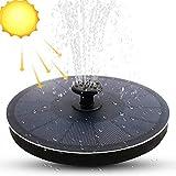 FRECOO Solar Springbrunnen, Solar Teichpumpe Outdoor Schwimmender Fontäne Pumpe mit 2.2W Solar Panel Garten für Gartenteich, Schwimmender Dekoration für Garten, Fisch-Behälter, Kleiner...