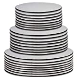 24 Cake Board Rounds White Circle Cardboard Base Holders Disposable Plate Tray 3 Assorted Sizes 8 of Each 6...