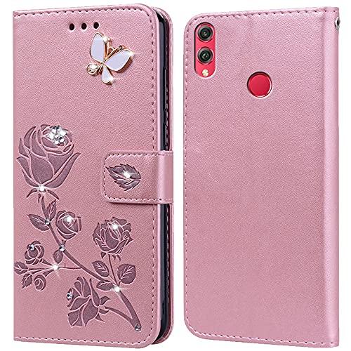 Hülle für Huawei Honor 8X,Handyhülle für Huawei Honor 8X,Klappbar Tasche Hülle,Standfunktion,Kartenfach,Silikon Bumper,Stoßfeste Schutzhülle Cover für Huawei Honor 8X(6.5