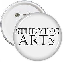 Short Phrase Studying Arts Round Pins Badge Button Clothing Decoration Gift 5pcs