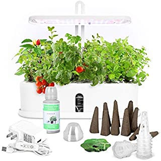 Dr Goodrow Hydroponics Growing System - 10 Pods Grow Tent Kit with LED Grow Light   Indoor Gardening Kit for Smart Home   ...