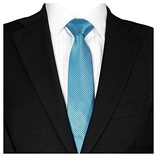 GASSANI Schmale Herren-Krawatte Türkise Graue Vichy Karo-Muster, Skinny Slim Dünne Karierte Hochzeitskrawatte Herrenschlips, Moderne Breite 7cm