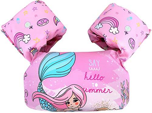 YOMI Kleinkind-Schwimmweste, Kleinkind-Schwimmweste Für Kinder 30-50 Lbs, Baby-Schwimmweste Für Schwimmhilfen, Jungen/Mädchen Lernen Schwimmen (Pink Mermaid)