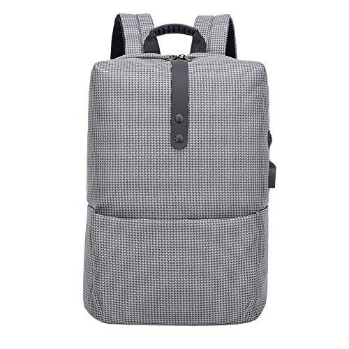 ALIKEEY Fashion Multifunctionele anti-diefstal rugzak High-Capacity-laptoptas met USB grijs