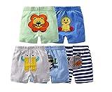 Leggings de algodón unisex para recién nacido y niños pequeños, de Monvecle Multicolor Paquete de 5 pantalones cortos para niño. 12-18 Meses