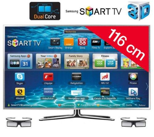 Samsung UE46ES6900 - Televisión LED de 46 pulgadas, Full HD (400 Hz), color plateado: Amazon.es: Electrónica