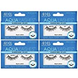 Ardell Aqua False Strip Lashes 341, Water Activated Faux Lashes, Reusable, No Lash Glue Required, 4 Pack