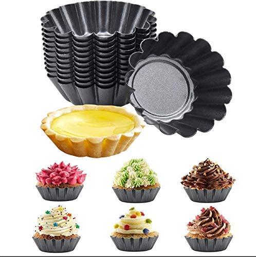 Moule à tarte aux œufs - 10pcs rond antiadhésif oeuf art pan étain gâteau pudding gâteau tasse Plat à Tarte