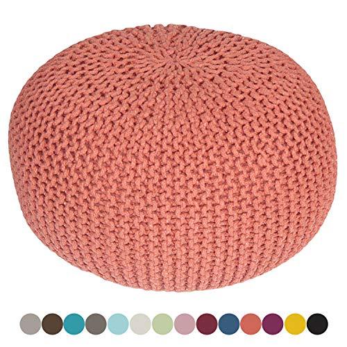 Taburete Knitting Pouf Pouffe Pouf óptica Grobstrick