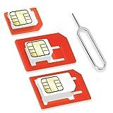Wicked Chili 4in1 SIM Karten Adapter Set (Nano SIM, Micro SIM, Standard SIM, Eject Pin/SIM Nadel)...