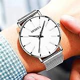 LYAO Reloj De Hombre De Negocios Ultrafino Reloj De Cuarzo, Correa De Acero Inoxidable Reloj Simple Reloj Masculino Reloj De Hombre H