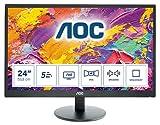 AOC Monitor M2470SWH - 24' Full HD, 60 Hz, MVA, VESA, 1920x1080, 250 cd/m, D-SUB, HDMI 2x1.4