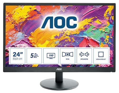 AOC M2470SWH - 24 Zoll FHD Monitor (1920x1080, 60 Hz, VGA, HDMI) schwarz