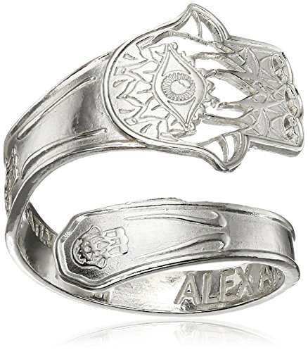Alex and Ani Spoon Hand of Fatima Stackable Ring, Size 7-9