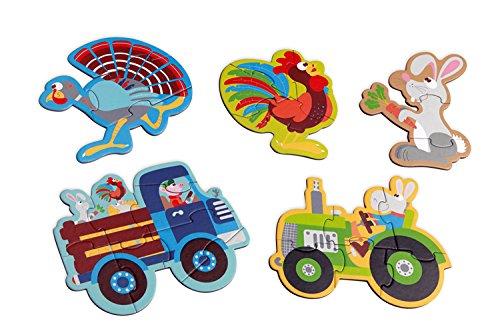 Scratch スクラッチ スタートパズル ファーム 【SC1073】 おもちゃ 知育玩具 パズル ジグソーパズル セット 3ピース 4ピース 5ピース 6ピース 8ピース 動物 男の子 女の子 こども 2歳 初めて 簡単 かわいい プレゼント 誕生日 お
